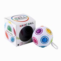 Magic Rainbow Ball Magic Cube Toy Kids Educational Toys Stress Reliever