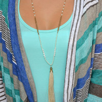 Sweet Mint Fringe necklace