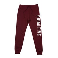 SLAB TYPE SWEATPANT - BURGUNDY