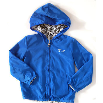 Fun-K - Boys Light Windbreaker, Blue