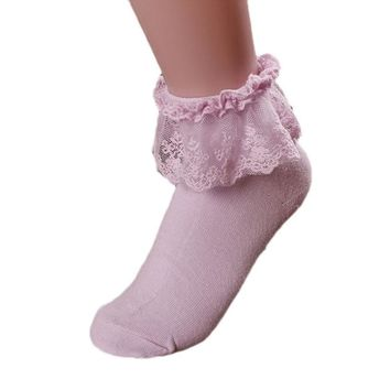 2018 Women Vintage Lace Ruffle Frilly Ankle Socks Princess Girl Cotton Sock Ankle Socks Autumn Summer socks women wholeasle