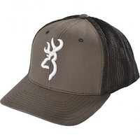 Browning Charcoal Grey Buckmark Flex Fit Cap - S/M - Sheplers