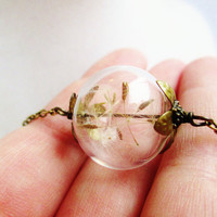 Dandelion Seed Wishing Orb Necklace!