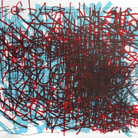 Dan Miller, overlays, doodle, scribble, Op art, Superimposing, Overlapping, abstract, kinetic art, creative growth, intuitive painting, Art,