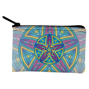 Mandala Trippy Stained Glass Starfish Coin Purse