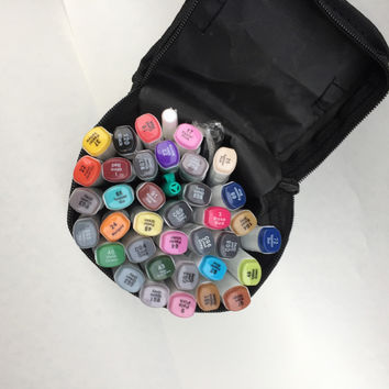 Free shipping a two-headed alcohol oily mark pen students manga design hand-painted 40 72 80 colors copic markers art supplies