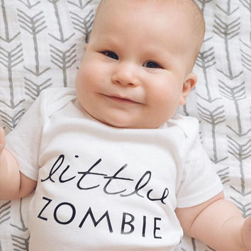 Little zombie, first Halloween, zombie shirt, zombie baby, walking dead, end of the world, living dead, zombie baby shirt, Halloween Zombie