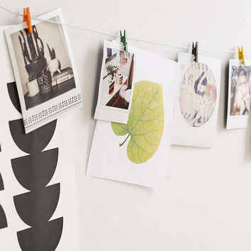 Mini Clothespin Photo Clips String Set | Urban Outfitters
