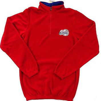 LA Clippers Majestic 1/4 Zip Pullover Sweatshirt Size MT