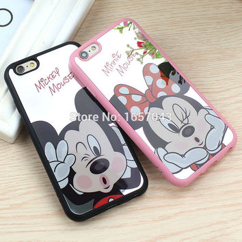 Mickey and Minnie Mouse Mirror Cases