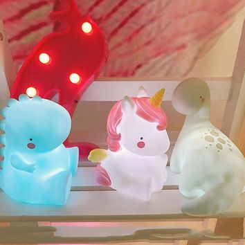 Baby Lamp Night Light LED Unicorn Shape Lamps Mood Light Baby Nursery Cabinet Battery Table Lamp For Children Gift Bedroom Decor