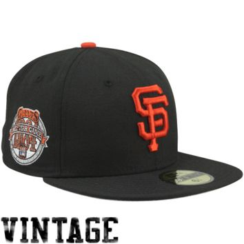 New Era San Francisco Giants 1984 Cooperstown All-Star Patch 59FIFTY Fitted Hat - Black