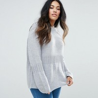 ASOS Curve Oversized Jumper with Rib Detail at asos.com