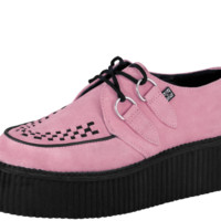Pink Suede Creepers from T.U.K.