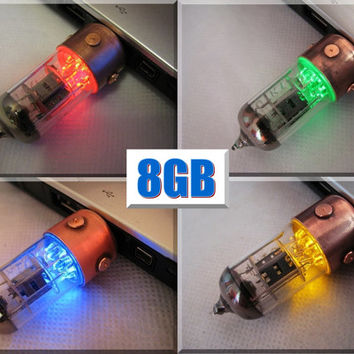 8GB Pentode USB flash drive. Steampunk/Industrial