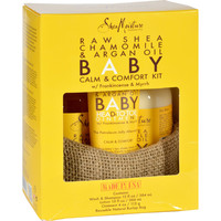SheaMoisture Gift Set - Baby - Raw Shea Chamomile and Argan Oil - Calm and Comfort Kit - 3 Pieces - 1 Set