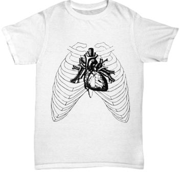 Heart in a Rib Cage Halloween Shirt