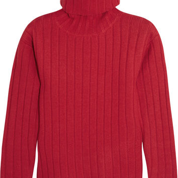 DKNY - Ribbed boiled-wool turtleneck sweater