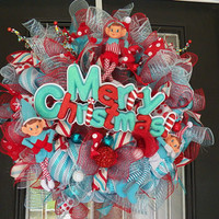 Christmas Wreath, Christmas Decoration, Christmas Door Hanger, Front door wreath