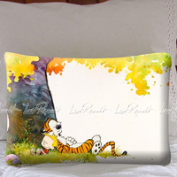 Calvin And Hobbes Under Tree on Decorative Pillow Covers