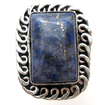 Lapis Lazuli Ring Sterling Silver Size 8