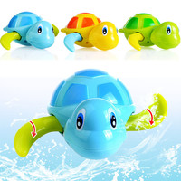 Essential Random Color New born babies swim turtle wound-up chain small animal Baby Children bath toy classic toys 623