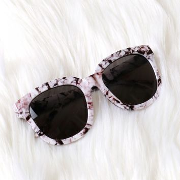 Marble Sunglasses Black/White