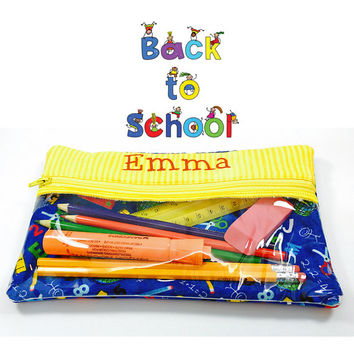 Personalized Pencil Case, Large Pencil Case - Drawing, School, Craft Supplies - Colored Pencil Case -  Gifts for Boys, Girls - Under 25
