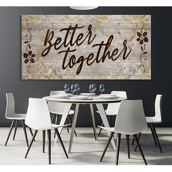 Better Together Custom House Wall Art Sign Canvas Print Personalized House Gift