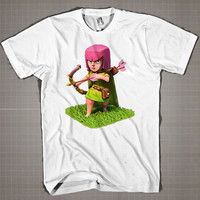 Troop Archer COC  Mens and Women T-Shirt Available Color Black And White