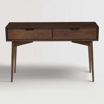 Walnut Brown Wood Brewston Console Table