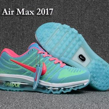 Nike Air Max 2017 KPU Blue & Pink Women's Running Shoes Sneakers