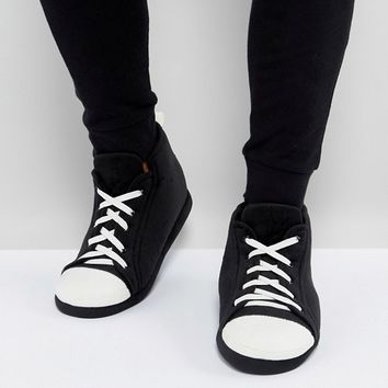 ASOS Trainer Slippers In Black and White at asos.com