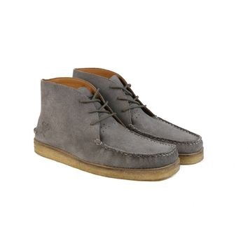 The Wallace | Men's Grey Suede Leather Boots