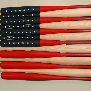 Wood baseball bat American flag