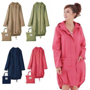 Long Thin Raincoat Women Waterproof hood Light  Rain Coat Ponchos Jackets cloak Female Chubasqueros Impermeables Mujer