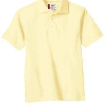 Dickies Yellow Polo Youth Shirt Size: X-Large
