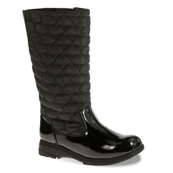 Soft Style by Hush Puppies Paris Women's Quilted Tall Boots (Black)