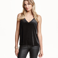 Velvet Tank Top - from H&M