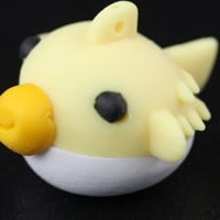Yellow Blow  Fish Eraser