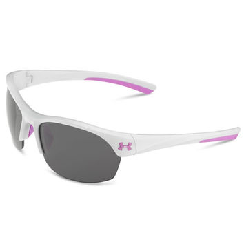 Under Armour Marbella Sunglasses Shiny White /Pink