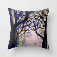 treasure forest Throw Pillow by Marianna Tankelevich