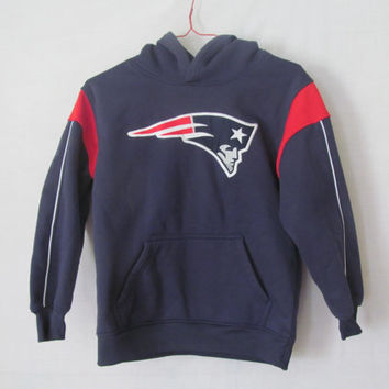 Just Like Dad NFL Patriots Jacket Boys Hoodie sz M 8 Vintage Football NFL Clothing New England Patriots Vintage NFL Logo Pullover Hoodie