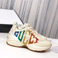 GUCCI Rhyton glitter Gucci leather sneaker