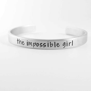 """The Impossible Girl"" Doctor Who Inspired Cuff Bracelet"