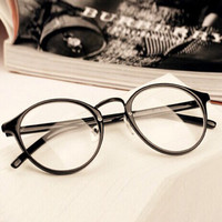 Mens Women Nerd Glasses Clear Lens Eyewear Unisex Retro Eyeglasses Spectacles