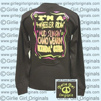 Girlie Girl Original  4-Wheeler #2 Camo Girl Long Sleeve Bright T Shirt