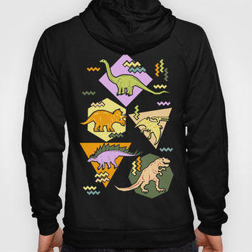 Nineties Dinosaur Pattern version 2. Hoody by chobopop | Society6