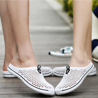 New Summer women clogs Light Breathable Shoes for Men fashion Ladies Shoes 5colors normal size best price SL02F9A1