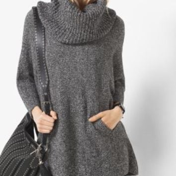 Marled Cowl-Neck Wool-Blend Sweater | Michael Kors